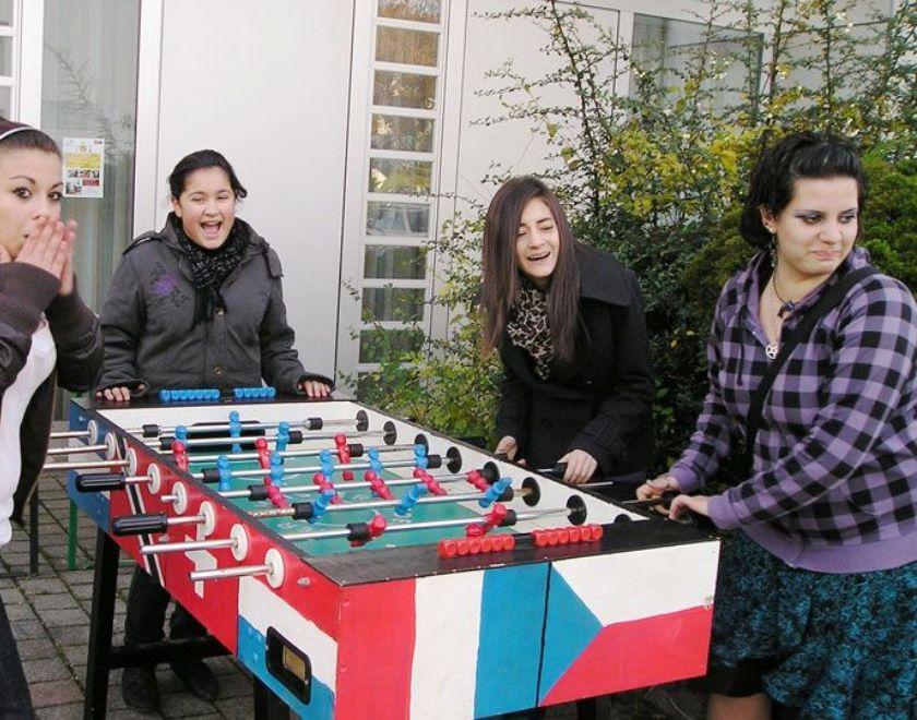 Jugendliche beim Turnier in der Mühlestraße