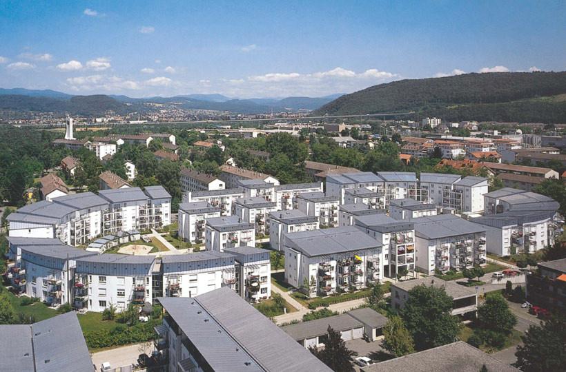 Luftbild Wohnanlage Stadion