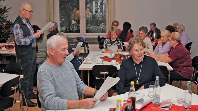 Senioren singen gemeinsam