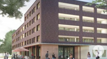 Animation, Blick in den Innenhof, Neubau Weber Conrad