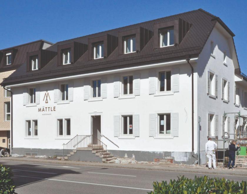 """Das sanierte Gasthaus """"Mättle"""""""