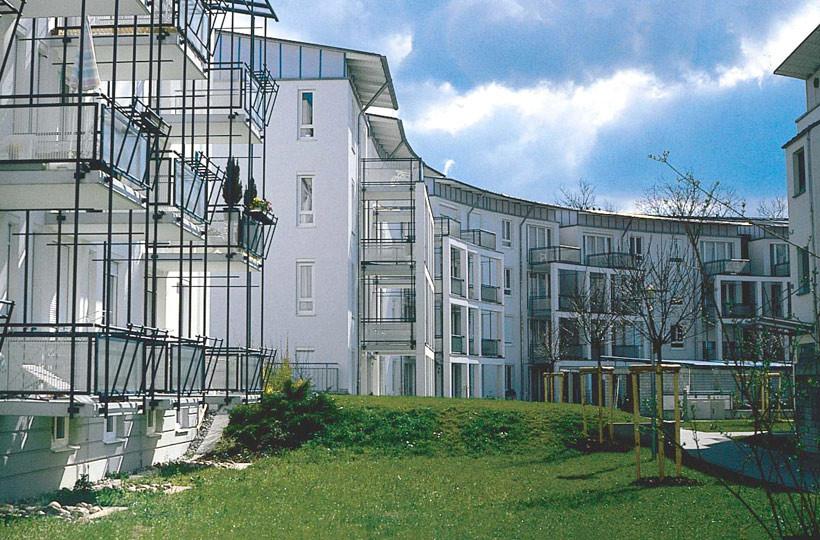 Wohnanlage Stadion Innenhof
