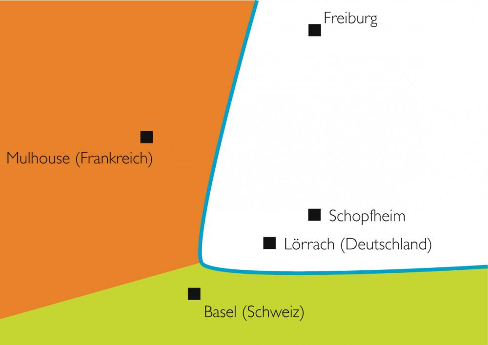 Überblick über das Dreiländereck