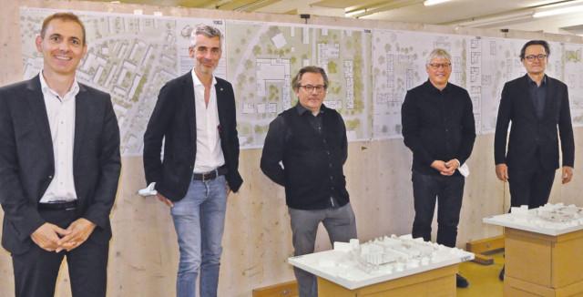 Jurymitglieder und die Architekten Lay und Piribauer